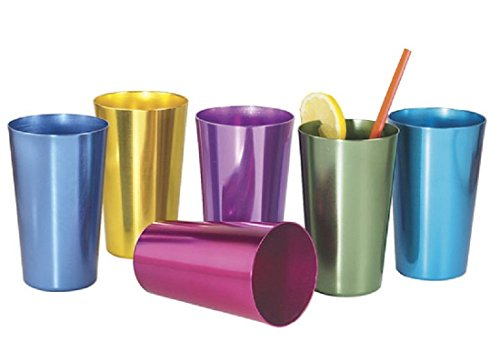 colored beverage glasses - 5