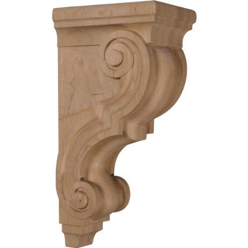 Ekena Millwork CORW05X07X14TRCH 5-Inch W x 6 3/4-Inch D x 14-Inch H Large Traditional Wood Corbel, Cherry