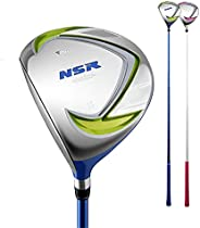 Kids Golf Club Wood 1# Left Handed Die-cast Aluminum Head Carbon Shaft Age 3-15 Children Drivers Wooden Pole