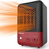 Mini Ceramic Space Heater with Infrared Human Sensor Feature, 600W Electric Heater Fan