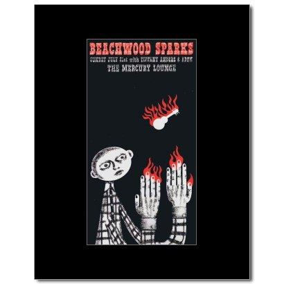 Music Ad World Beachwood Sparks - Mercury Lounge New York 2002 Mini Poster - 26.4x13.8cm