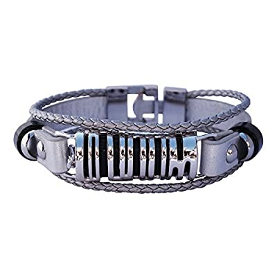 Fitbit Bracelet SKY- SILVER/BLACK - FitBit Jewelry - 925 sterling silver - rhodium plated- real leather