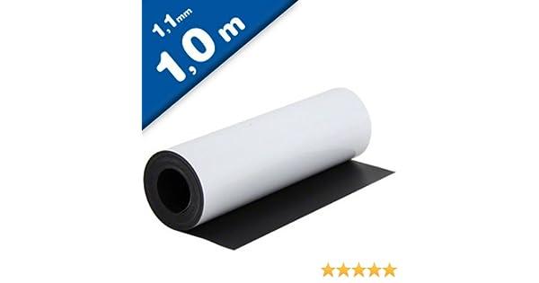 Lámina magnética blanco mate 1,1mm x 0,62m x 1m - crear imanes personalizados, adhiere a todas superficies metálicas: Amazon.es: Hogar