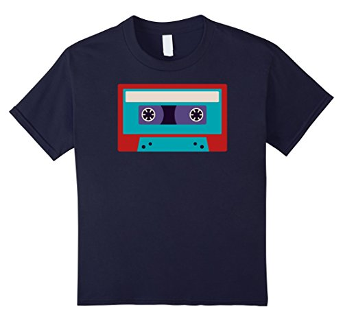 Kids Cassette Tape Costume Shirt 80s 90s Party Outfit T-Shirt 4 (90s Throwback Costumes)