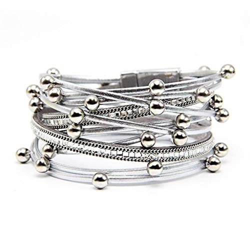 Leather Wrap Bracelet for Women Girls Simple Costume Fashion Jewelry Best Gift for Girls Gogoodgo