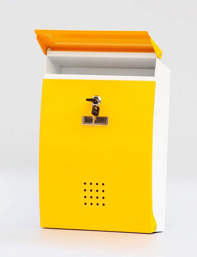 ロック付き壁掛けの新聞箱付き金属製メールボックス   B07H93J2X8