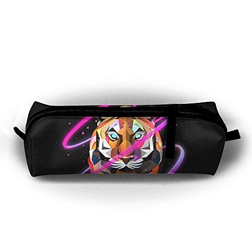 - GXTEAY Cute Canvas Zipper Stationery Bag Cg Digital Geometry Pink Dark Tiger Art Pencil Bag Large Capacity Durable Lightweight Pen Case