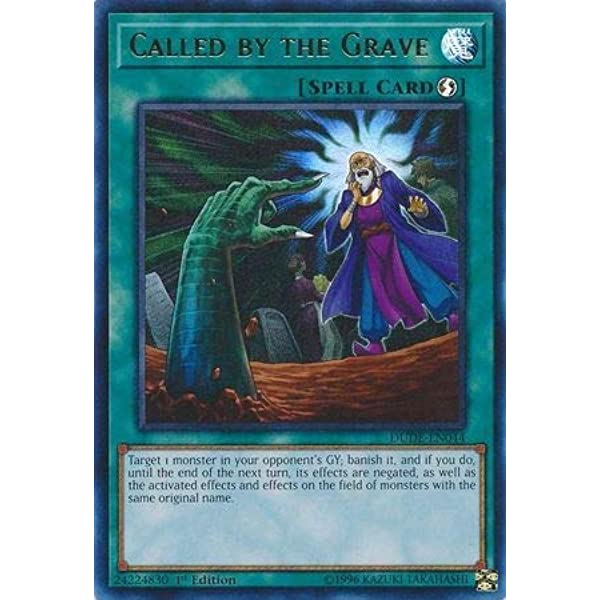 Yugioh Called by the Grave DUDE-EN044 Ultra 1st Ed NM Italian