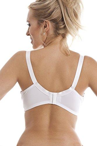 Camille - Sujetador para mastectomía sin aros - Sujeción total - blanco Blanco