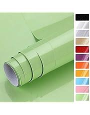 KINLO 5 x 0,61 m PVC keukenkast-sticker zelfklevend keukenfolie plakfolie kastfolie decoratief behang rollen voor keukenkasten meubels