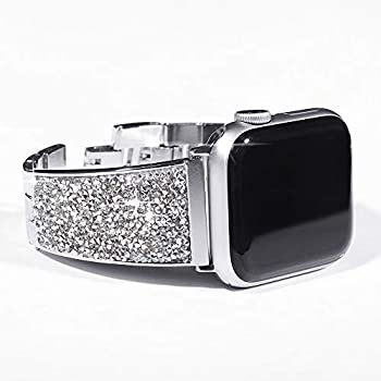 Amazon.com : Silver Swarovski Crystal Apple Watch Band ...