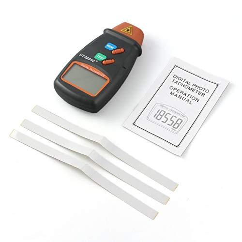 shengerm Digital Laser Photo Tachometer Non Contact RPM Tach Digital Laser Tachometer Speedometer Speed Gauge Engine ()