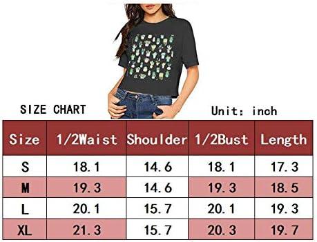 Sixx Am Modern Vintage Crop Top Women Short Sleeves T Shirt Round Neck Dew Navel Clothes