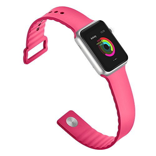 Huanlong New Soft Silicone Sport Style Replacement Iwatch Strap Band for Apple Wrist Watch