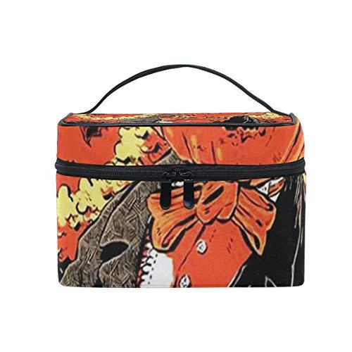 Toiletry Bag Multifunction Cosmetic Bag Portable Toiletry Case Waterproof Travel Organizer Bag for Women Girls Halloween Keep In Creepy]()