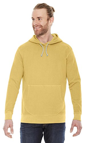 Authentic Pigment Adult French Terry Hoodie, MUSTARD, Medium