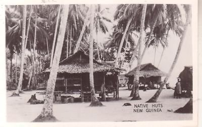 G4262 New Guinea, Native Huts Photo Postcard (Native Postcard Huts)