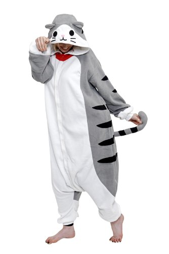 Animal Adults Onesie (Adults, Tabby Cat)]()
