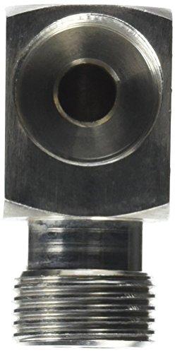 Krome Dispense C600 Keg Coupler Elbow, 90 Degree Angle, Stainless Steel Polished Finish