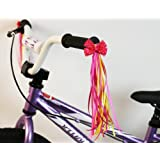Bike Handlebar Streamers - Kid's Bicycle Bow Design Streamers - Easy Attachment to Cycle's Handlebars