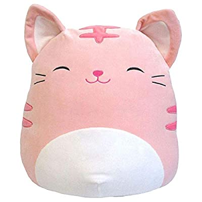 Squishmallows 16 Inch Pink Tabby Kitty Cat Paulita: Home & Kitchen