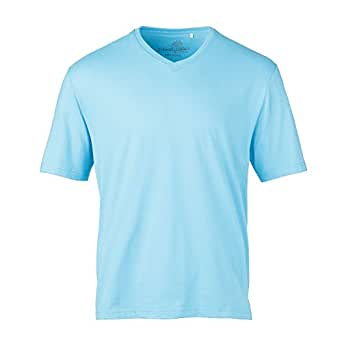 Island Eddie's by Eddie Dean V-Neck T-Shirts (Aqua, Small)