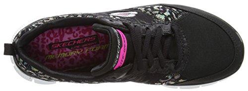 Skechers Synergy-Moonlight Madness - Zapatillas de Deporte, Mujer Negro (Bkw)