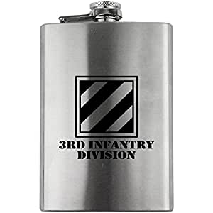 Army 3rd Infantry Division Subdued 8oz. Flask