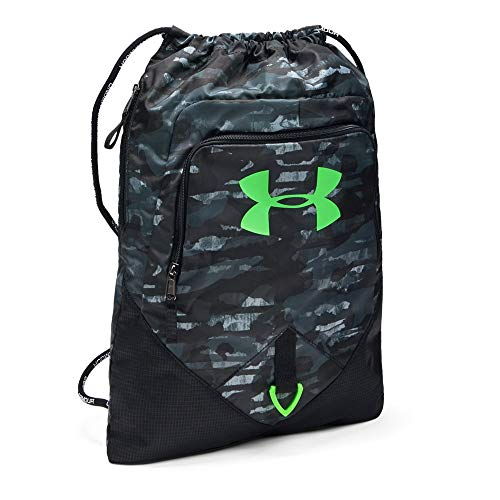Under Armour Undeniable Sackpack, Steel//Zap Green, One Size Fits All ()