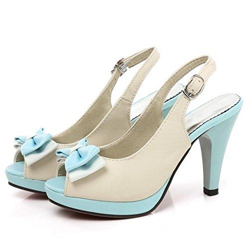 Mujer Sandalias Slingback Blue Plataforma Zapatos Coolcept dYqgd