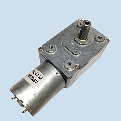 12V 40rpm Electric High Torque Turbo Worm Geared DC Motor - 7