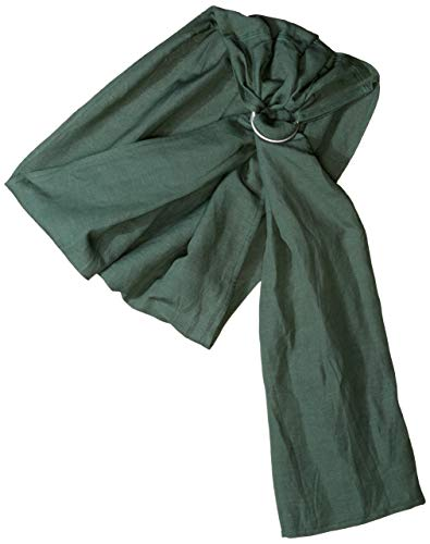(Ring Sling Baby Carrier - Extra Soft Bamboo and Linen eco-Friendly, Beautiful Fabric That is Designed to Have a Rustic Distressed Appearance After Machine Washed and Dried by Hip Baby Wrap (Forest))
