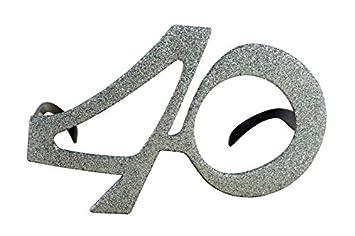 P tit payaso 98140 gafas plástico – Age con pedrería – 40 – Negro