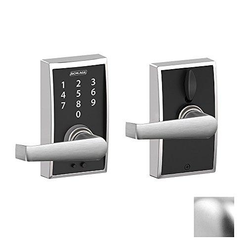 Century X Elan Lever Touch Lock   Satin Chrome