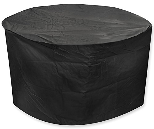 Direct Wicker Heavy Duty Waterproof Large Patio Set Cover - Outdoor Furniture Cover with Padded Handles and Durable Hem Cord - Weather Resistant, Fits Large Round Table with Chairs by Direct Wicker