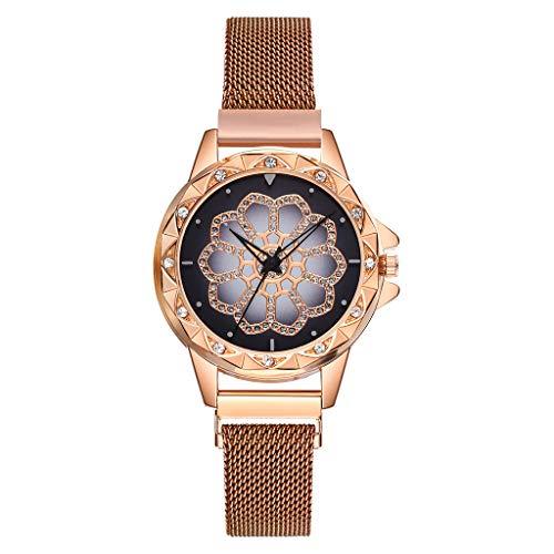HunYUN New Women Quartz Stainless Steel Band Strap Watch Classic Analog Quartz Casual Wrist Watch