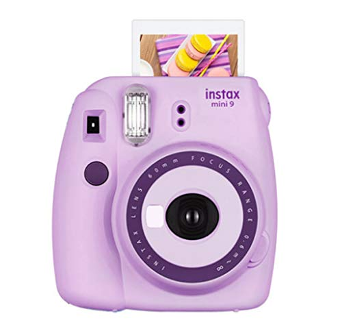 Fujifilm instax Mini 9 Instant Camera Film Camera for Ideal Gift – Light Purple