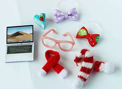 LPS Accessories Lot Clothes Skirt Shawl Glasses Tablet 8 PCS Suit for LPS Cat and Dog LPS Shorthair Cat Collie Great Dane Cocker Spaniel Dachshund