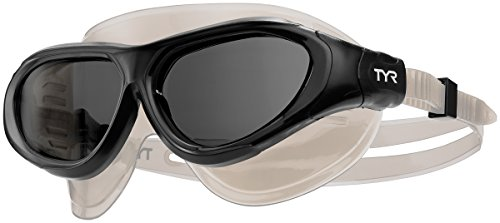 TYR Flex Frame Swim Mask Goggles, Black