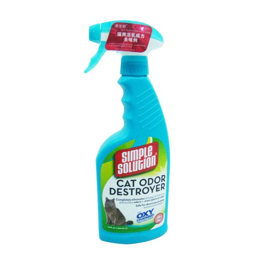 Simple Solution 16-Ounce Cat Odor Destroyer Spray Bottle, My Pet Supplies