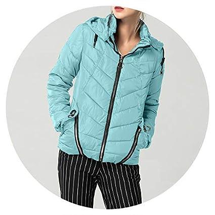 Amazon.com: Summer-Lavender Winter Jacket Down Parkas Slim ...