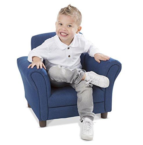 Melissa & Doug Child's Armchair - Denim Children's Furniture (Armchair For Reading)