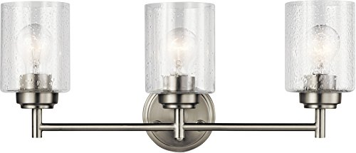 (Kichler Lighting 45886NI Three Light Bath from The Winslow Collection, Brushed Nickel)
