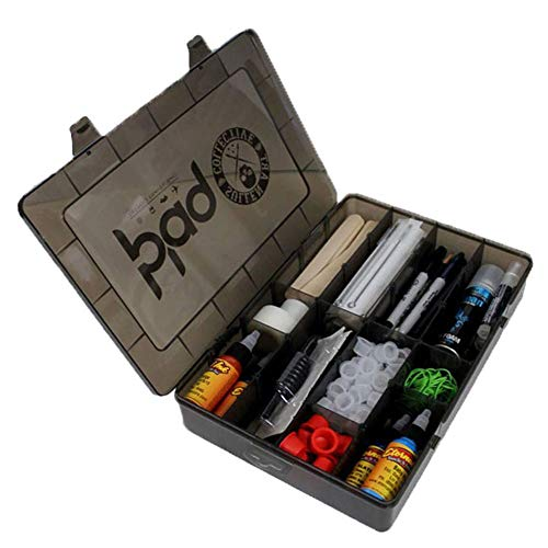 Sullen Art Co. Blaq Paq Travel Carrying Case with Adjustable Slotted Trays Smoked Black