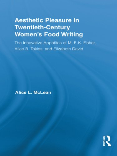 - Aesthetic Pleasure in Twentieth-Century Women's Food Writing: The Innovative Appetites of M.F.K. Fisher, Alice B. Toklas, and Elizabeth David (Routledge ... in Twentieth-Century Literature Book 18)