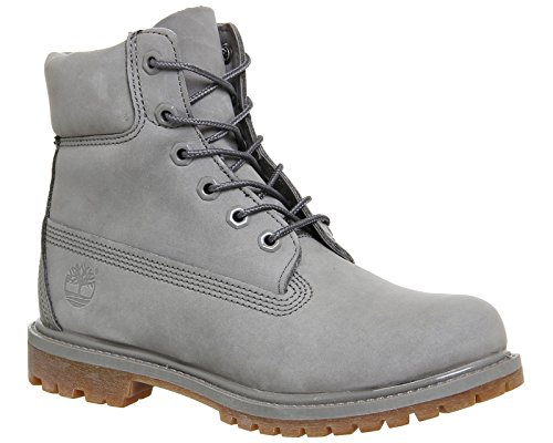 Added Women's Boots Comfort for Durable Uppers Waterproof 6 inch Timberland Premium Leather with Padded Grey Collar XfdqOxnw