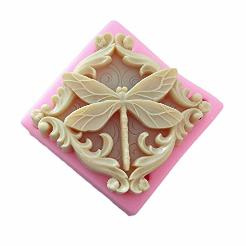 Dragonfly Soap Mold - MoldFun Dragonfly Silicone Mold for Handmade Soaps, Lotion Bars, Bath Bombs, Wax, Crayon, Polymer Clay, Plaster of Paris (Soap Plaster Mold)