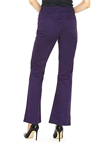 Croft & Barrow Plum Luxe Straight Leg Woman's Pants - Soft Stretch Dress Trousers With Slimming Control Top - Size 10 - -