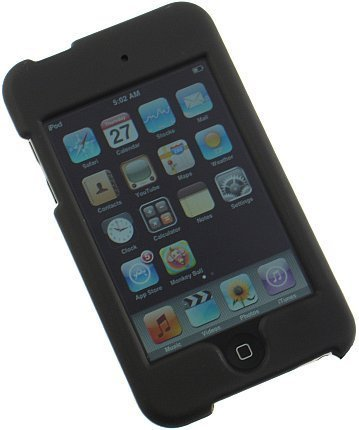 Generic NEW BLACK RUBBERIZED HARD CASE COVER FOR APPLE iPOD TOUCH 2 (3rd Gen Apple)