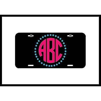 3766f1464496 Amazon.com  Flip Flop Monogram License Plate